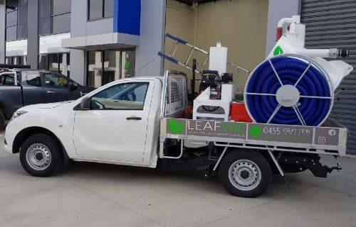 Leafvac truck