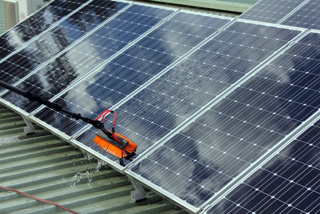 Solar Panel Cleaning Leafvac